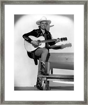 Gene Autry, 1940s Framed Print by Everett