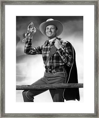 Gene Autry, C. 1940s Framed Print by Everett