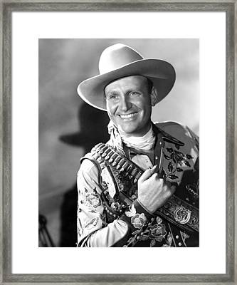 Gene Autry, Ca. 1946 Framed Print by Everett