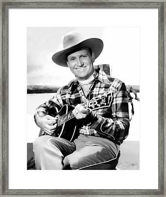 Gene Autry, Ca. Late-1940s Framed Print by Everett