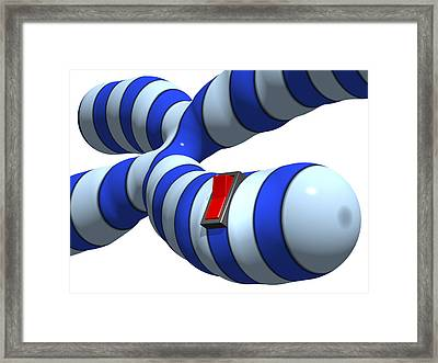 Gene Switch, Conceptual Artwork Framed Print by Laguna Design