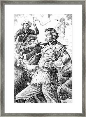 General Custer's Last Stand Framed Print by Gordon Punt