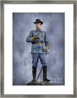 General John Buford At Gettysburg Framed Print by Randy Steele