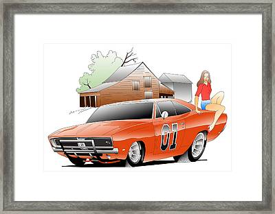 General Lee Digital Framed Print by Lyle Brown