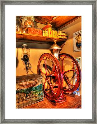 General Store Coffee Mill - Nostalgia - Vintage Framed Print by Lee Dos Santos