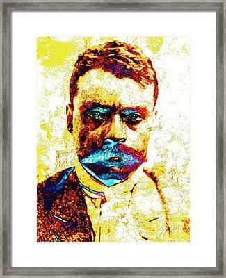 General Zapata Framed Print by Jose Espinoza