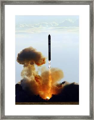 Genesis 2 Space Habitat Launch Framed Print by Ria Novosti
