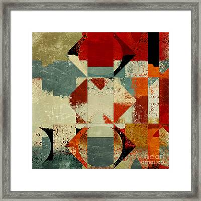 Geomix 04 - 39c3at227a Framed Print by Variance Collections
