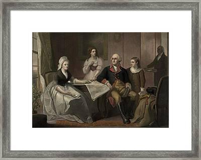 George And Martha Washington Sitting Framed Print by Everett