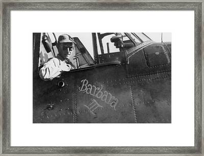 George Bush A Naval Aviator Framed Print by Everett