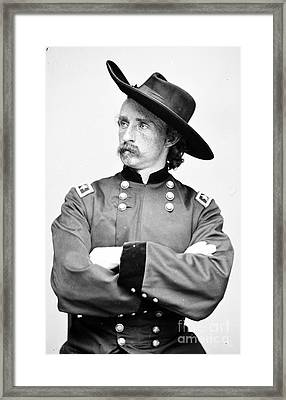 George Custer, American Calvary Officer Framed Print by Photo Researchers