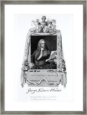 George Frideric Handel, German Baroque Framed Print by Omikron