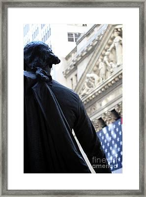 George  Framed Print by Leslie Leda