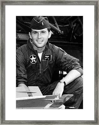 George W. Bush As A 1st Lt Framed Print by Everett
