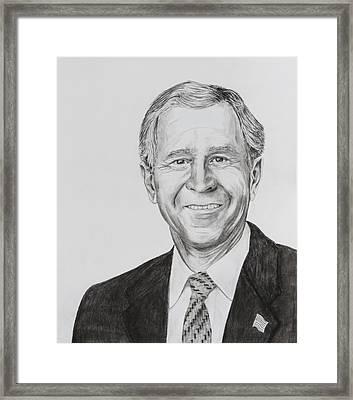 George W. Bush Framed Print by Daniel Young