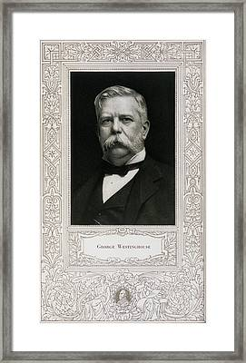 George Westinghouse, American Engineer Framed Print by Science, Industry & Business Librarynew York Public Library