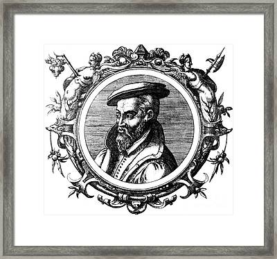 Georgius Agricola, German Scholar Framed Print by Science Source