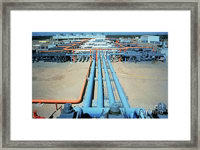 Geothermal Power Plant Framed Print by Science Source