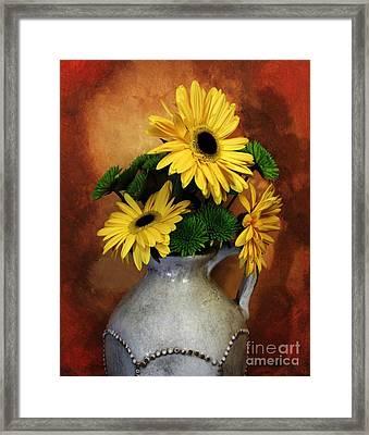 Gerber Yellow Daisies Framed Print by Marsha Heiken