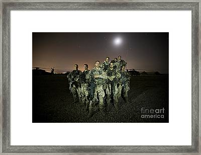 German Army Crew Poses Framed Print by Terry Moore