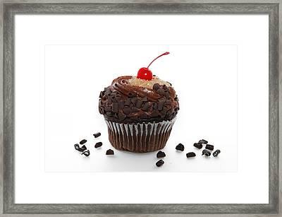 German Chocolate Cupcake Framed Print by Andee Design