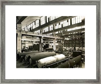 German Rocket Factory, 1943 Framed Print by Detlev Van Ravenswaay