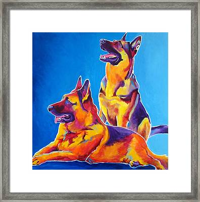 German Shepherd - Eiko And Erin Framed Print by Alicia VanNoy Call