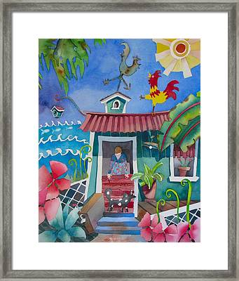 Get Off The Roof Framed Print by Codie Carman