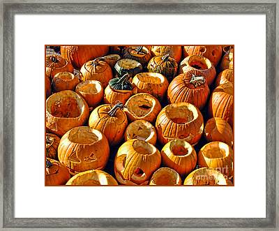 Getting Ready For Halloween Framed Print by Alexandra Jordankova
