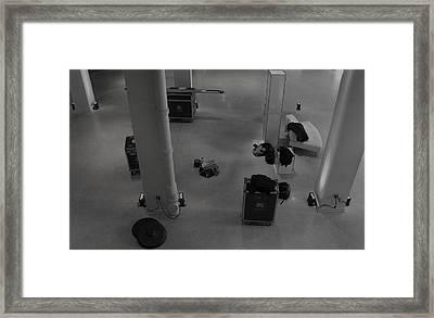Getting Ready To Gig Framed Print by Anna Villarreal Garbis