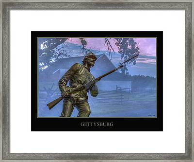 Gettysburg Battlefield Poster Framed Print by Randy Steele