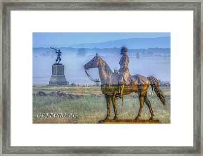 Gettysburg Battlefield Framed Print by Randy Steele