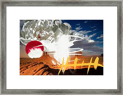 Ghost Chief Framed Print by Geronimo