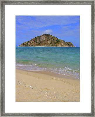 Ghost Island Framed Print by Linda Larson
