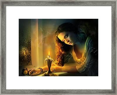Ghost Love Story - Cadence Of Her Last Breath Framed Print by Amalia Iuliana Chitulescu