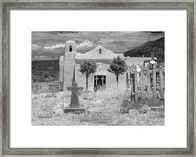Ghost Town Church Framed Print by Sonja Quintero