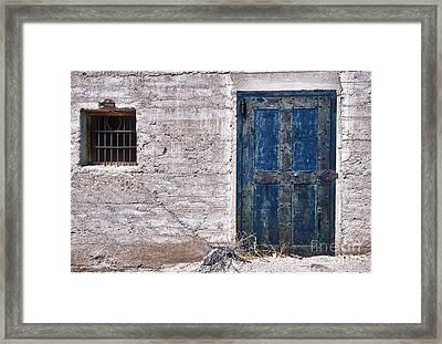 Ghost Town Jail Framed Print by Sandra Bronstein