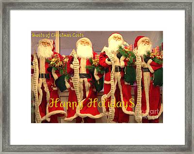 Ghosts Of Christmas Costs Greeting Card Framed Print by Joe Jake Pratt