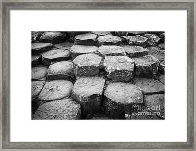 Giants Causeway Stones Northern Ireland Framed Print by Joe Fox