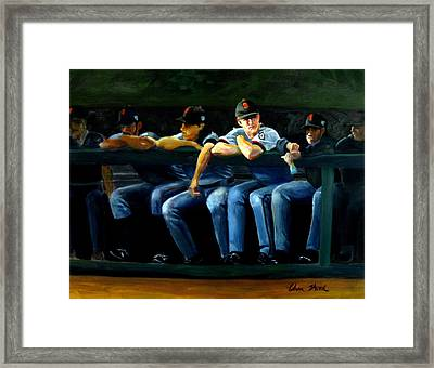 Giants Dugout Framed Print by Char Wood