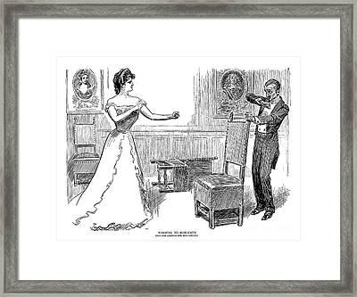 Gibson: Warning, 1900 Framed Print by Granger
