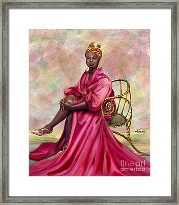 Gifted And Black-no Longer Looking Back Framed Print by Reggie Duffie