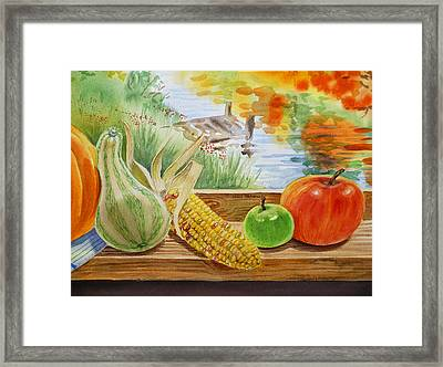 Gifts From Fall Framed Print by Irina Sztukowski