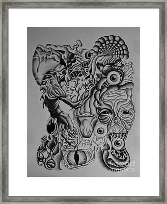 Gigantomachy Framed Print by Kleopatra Aurel