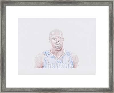 Gilbert Arenas Framed Print by Toni Jaso