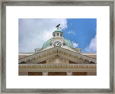 Giles County Courthouse Details Framed Print by Kristin Elmquist