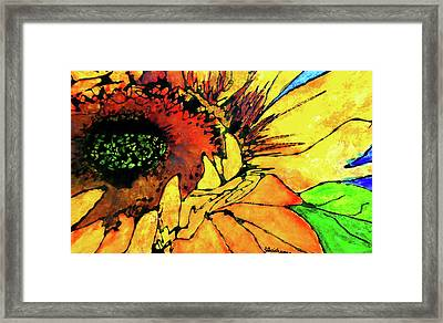Gina's Sunflower Framed Print by Laura  Grisham