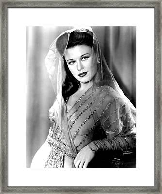 Ginger Rogers, In A Paramount Studios Framed Print by Everett