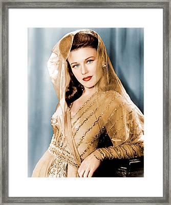 Ginger Rogers In Paramount Studio Framed Print by Everett