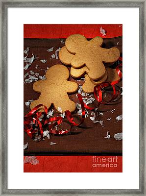 Gingerbread Men Framed Print by HD Connelly